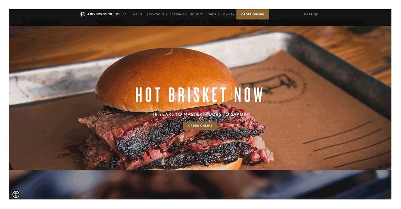 Design reataurant website