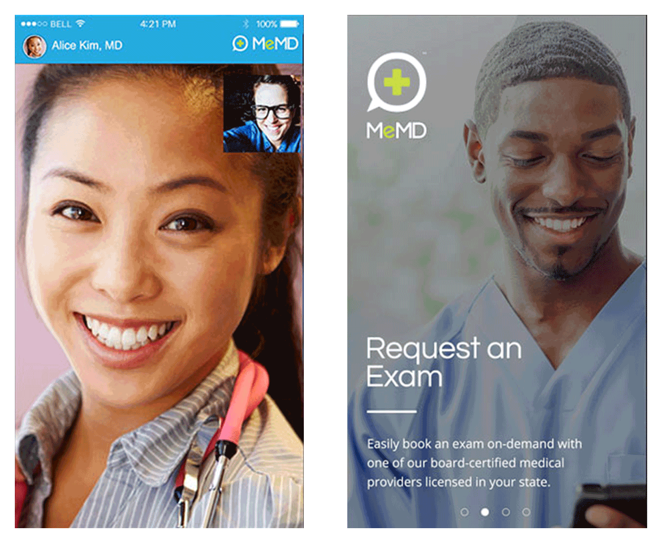 Talking to your doctor via MeMD, a doctor communication app