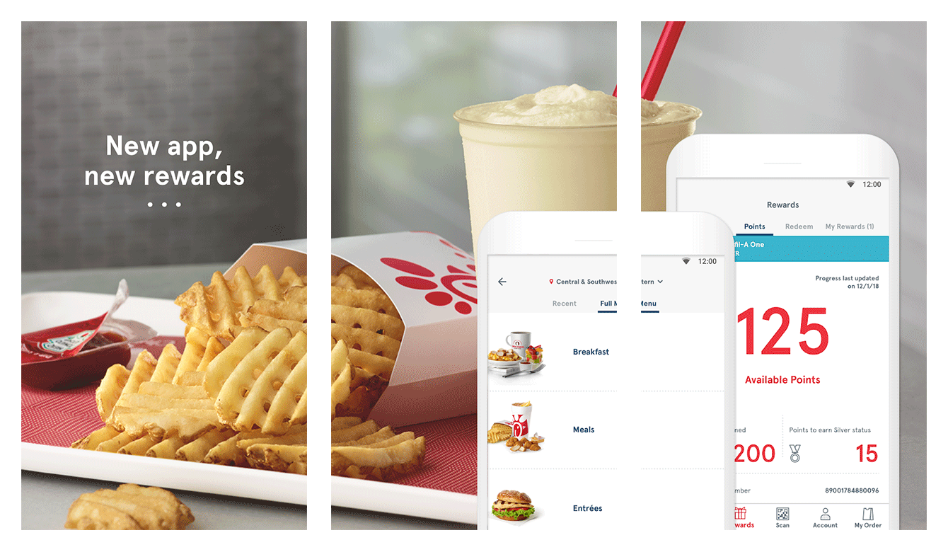 The Chick-fil-A loyalty app