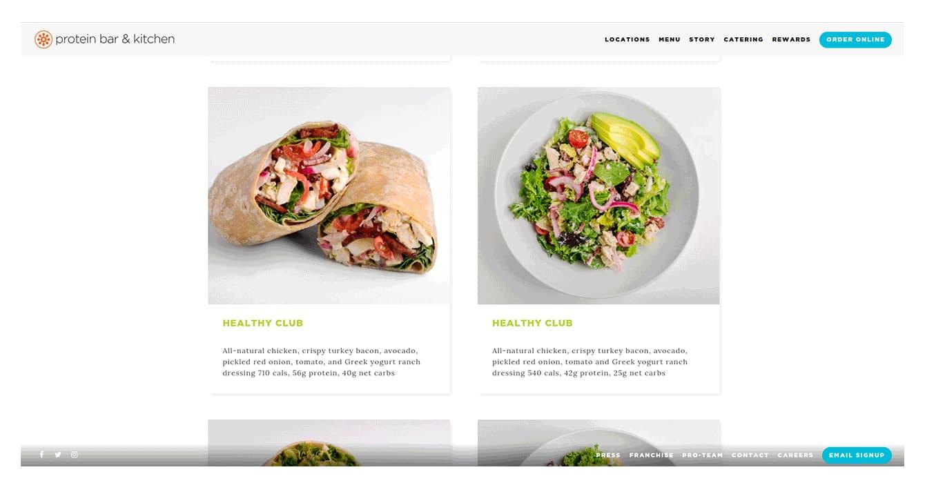Design restaurant app