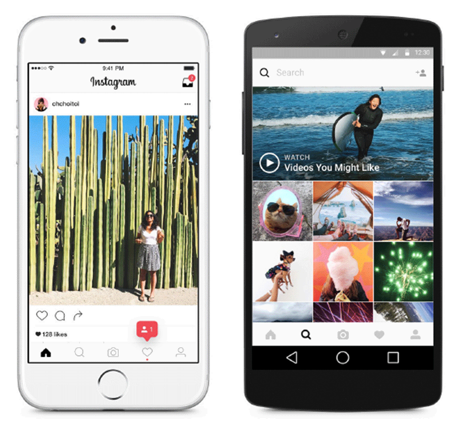 Instagram app screens ― a company that uses Django