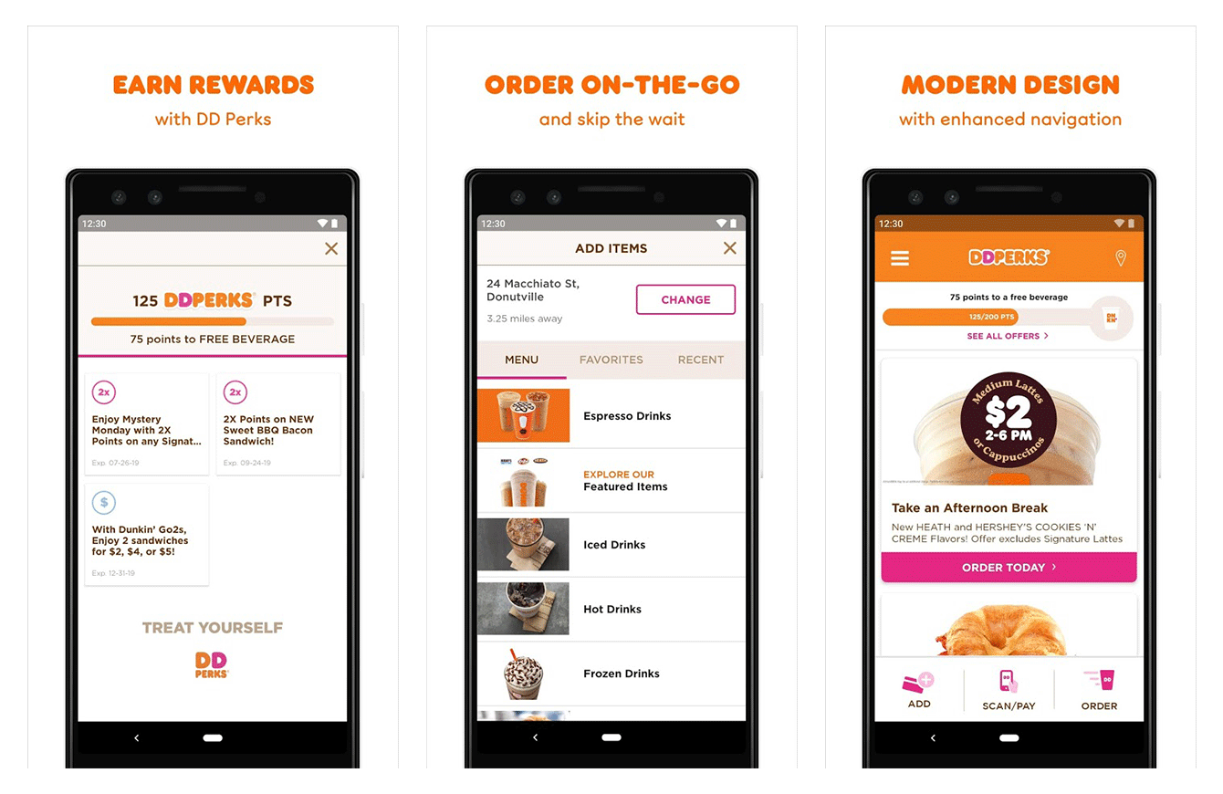The Dunkin' Donuts loyalty app