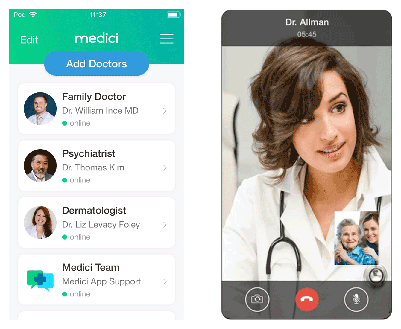 Find, text, and video chat your healthcare provider through Medici, a doctor on-demand app