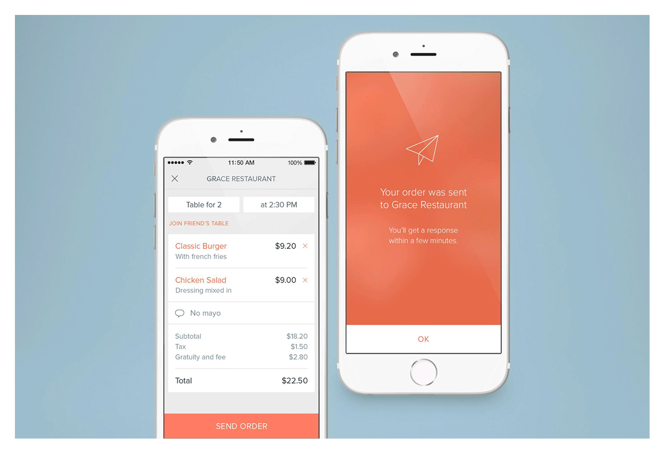 The Allset app: Reserving a table at a restaurant online