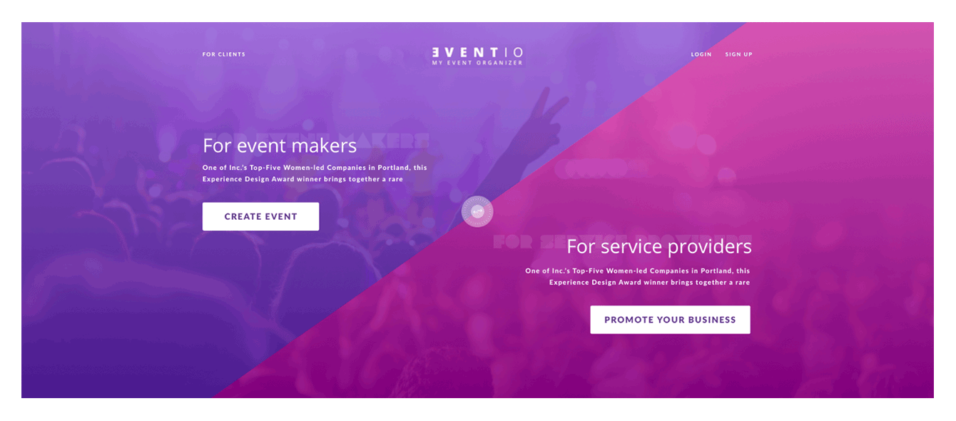 Online marketplace for events