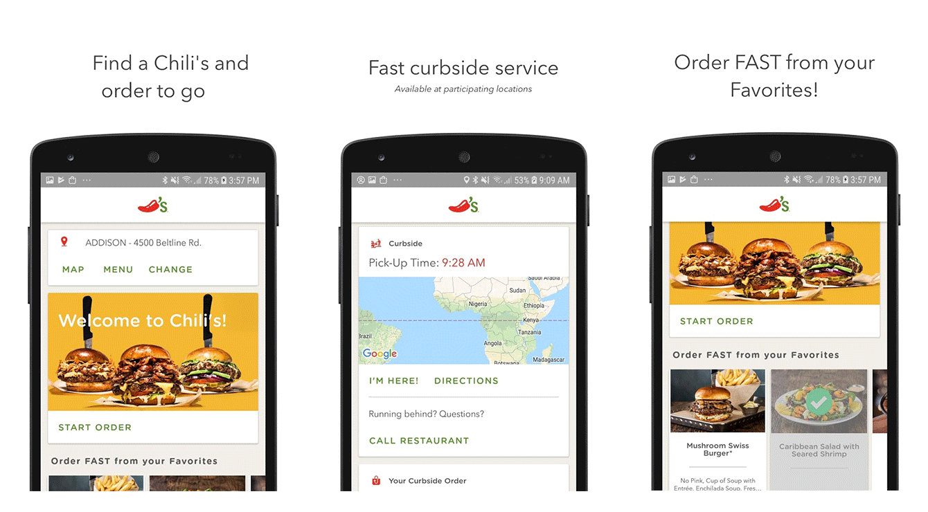The Chili's loyalty app