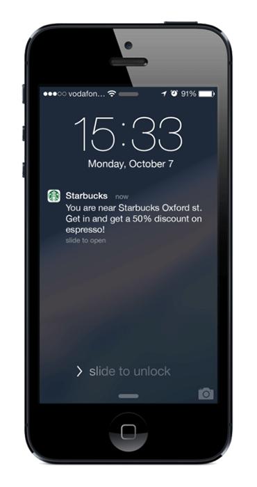 Restaurant app development. Push notification