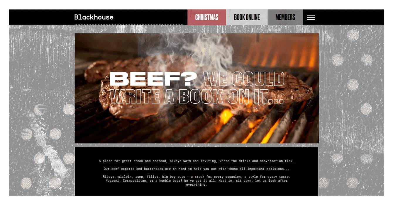 Design restaurant website