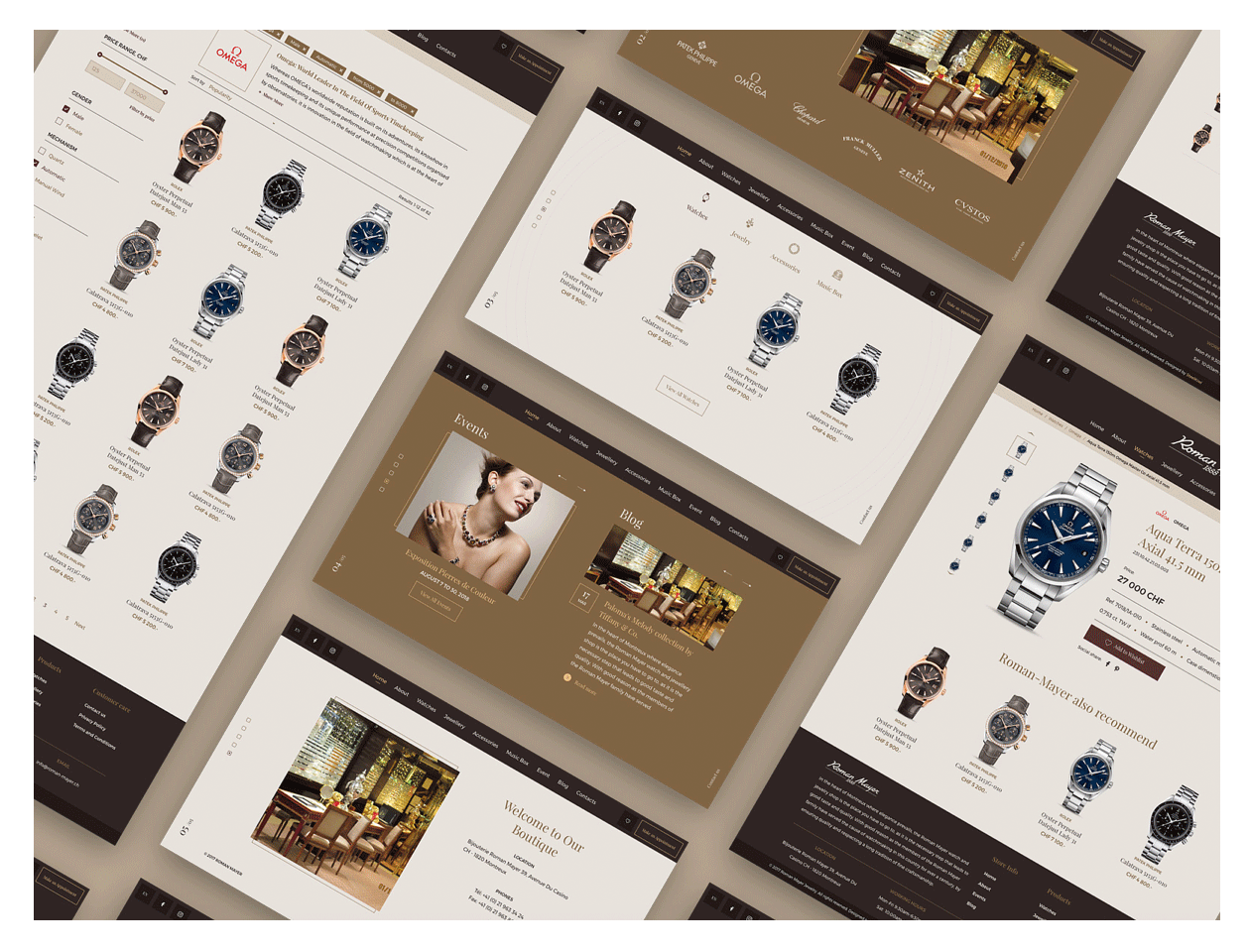 Luxury website design example