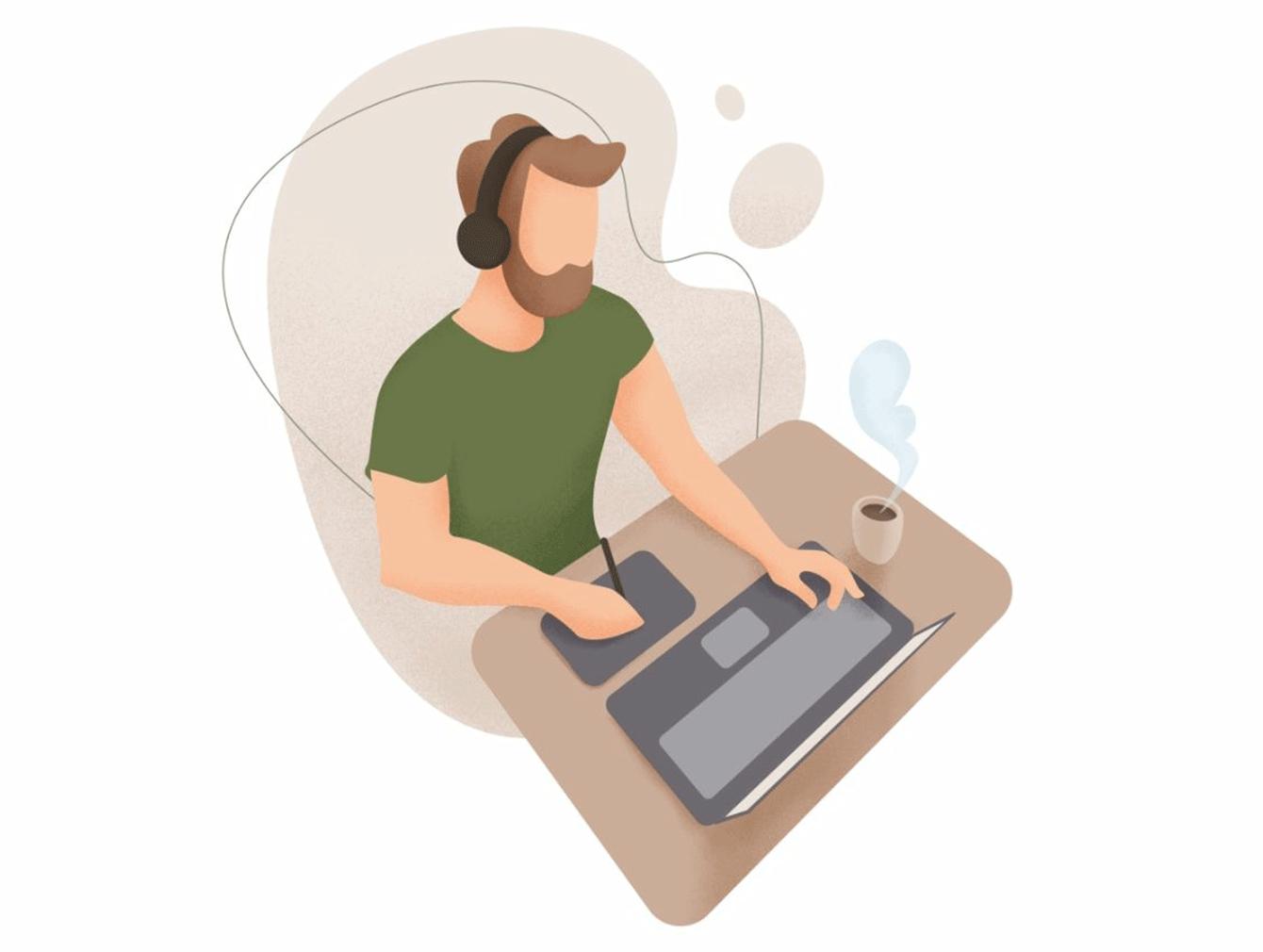 Hiring a Django freelance developer. Dribble shot