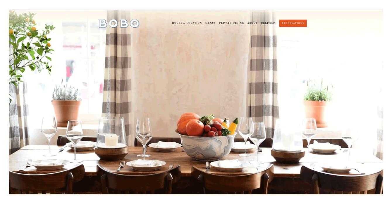 Desing restaurant website