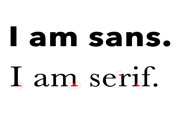 Serif font makes your website look more elegant because it contains small details at the end of each letter's stroke