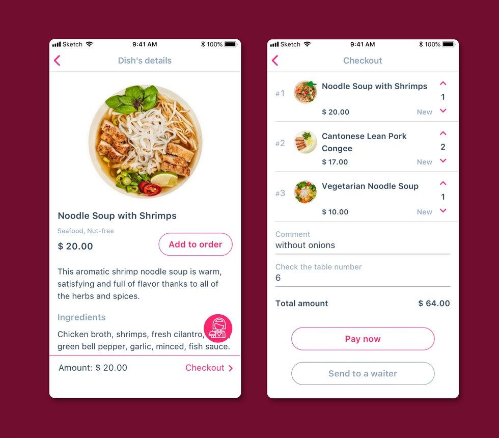 Restaurant visitor app